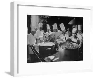 Cooks Preparing Feast For Alba Wedding