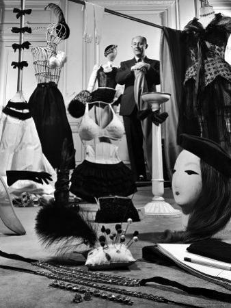 Dress Designer Christian Dior in His Workshop