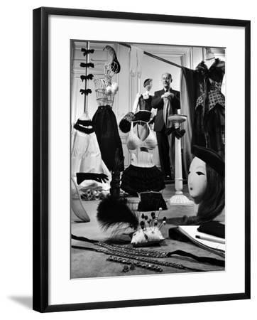 Dress Designer Christian Dior in His Workshop