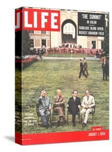 Eisenhower, Bulganin, Faure, and Eden, August 1, 1955 by Frank Scherschel