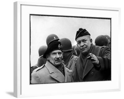 Gen. Dwight Eisenhower, Commander in Chief with British Field Commander Gen. Bernard Montgomery