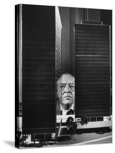 German Architect Mies Van Der Rohe and his Modern Apartment Buildings Designed for Lake Shore Drive by Frank Scherschel