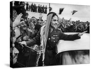 King Hussein Ibn Taltal Greeting His Subjects by Frank Scherschel