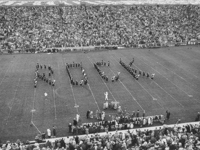 Navy vs. Notre Dame Football Game Half Time Tribute to its Legendary Coach, the Late Knute Rockne