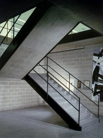 Stairway in Unidentified Building Designed by Mies Van Der Rohe. Chicago, Illinois 1956