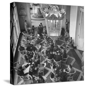 View of the Main Dining Room in the Hotel Quitandinha in Brazil by Frank Scherschel