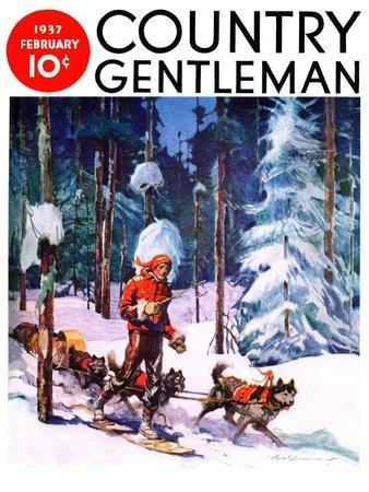 """""""Dog Sled,"""" Country Gentleman Cover, February 1, 1937"""