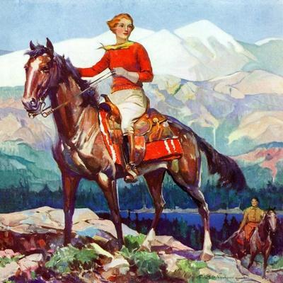 """""""Mountain Trail Ride,""""April 1, 1936"""