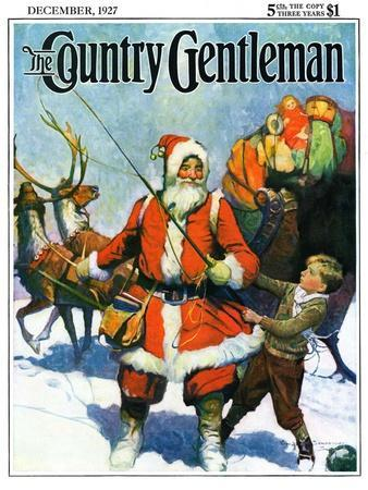"""""""Stay Santa, Stay!,"""" Country Gentleman Cover, December 1, 1927"""