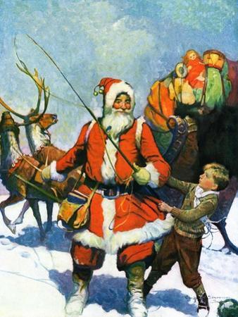 """Stay Santa, Stay!,""December 1, 1927 by Frank Schoonover"