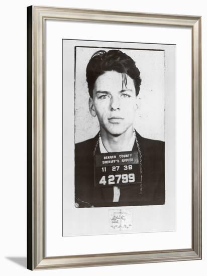 Frank Sinatra-Mugshot--Framed Art Print