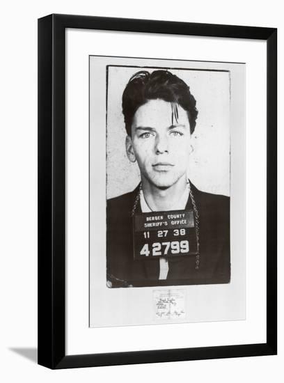 Frank Sinatra-Mugshot-null-Framed Art Print