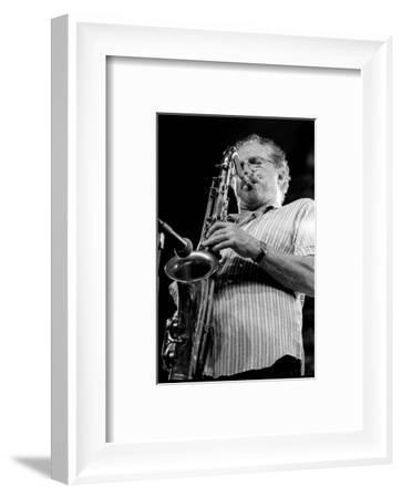 Frank Tiberi, Brecon Jazz Festival, Brecon, Wales, August, 2003-Brian O'Connor-Framed Photographic Print