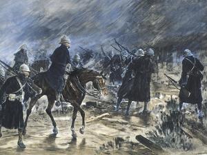 The British Entering Bloemfontein, 1900 by Frank Topham