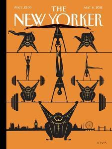 The New Yorker Cover - August 6, 2012 by Frank Viva