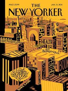 The New Yorker Cover - January 31, 2011 by Frank Viva
