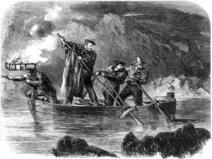 General Garibaldi Spearing Fish by Night Off Caprera, Sardinia, Italy, 1861 by Frank Vizetelly