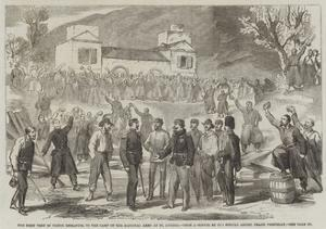 The First Visit of Victor Emmanuel to the Camp of the National Army at St Angelo by Frank Vizetelly