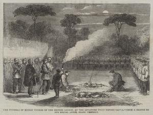 The Funeral of Ensign Tucker of the British Legion, at the Advanced Posts before Capua by Frank Vizetelly