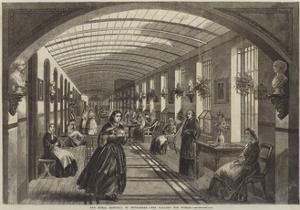 The Royal Hospital of Bethlehem, the Gallery for Women by Frank Vizetelly