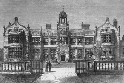 Ingestre Hall, Staffordshire, destroyed by Fire on Thursday, 12 October 1882
