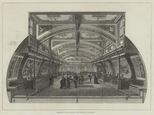 Interior of the Saloon in the Bessemer Steam-Ship by Frank Watkins