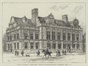 New Public Offices, West Hartlepool, Opened 1 May by Frank Watkins
