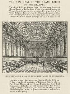 The New Great Hall of the Grand Lodge of Freemasons by Frank Watkins