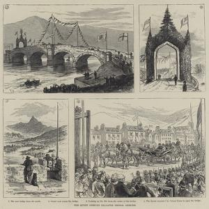 The Queen Opening Ballater Bridge, Deeside by Frank Watkins