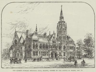 The Queen's Jubilee Memorial Hall, Ealing, Opened by the Prince of Wales, 15 December