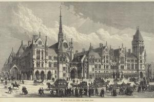 The Royal Courts of Justice, the Strand Front by Frank Watkins