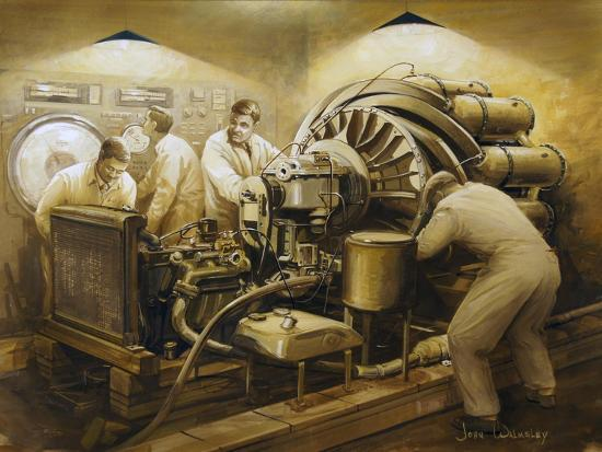 Frank Whittle's Early Development of the Jet Engine--Art Print