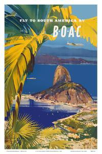 Fly to South America - British Overseas Airways Corporation - Sugarloaf Mountain, Rio De Janeiro, B by Frank Wotton