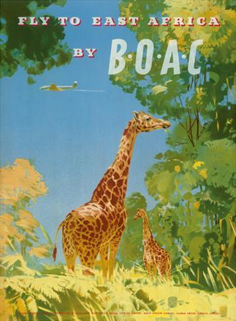 British Overseas Airways Corporation - Fly to East Africa by BOAC - Giraffes by Frank Woutton
