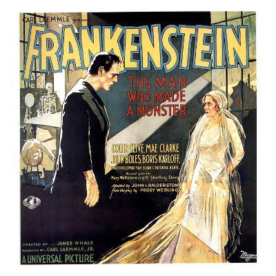 Frankenstein, Boris Karloff, Mae Clarke, 1931--Photo