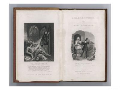 Frankenstein Frontispiece and Title Page to Mary Shelley's Novel--Giclee Print