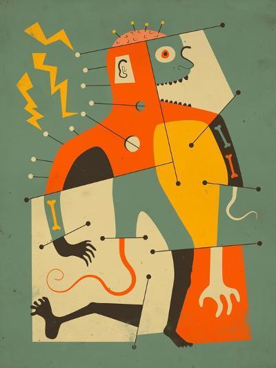 Frankenstein's Monster-Jazzberry Blue-Art Print