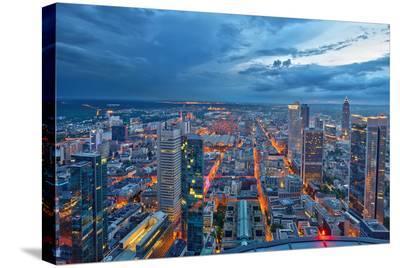 Frankfurt am Main at Night--Stretched Canvas Print