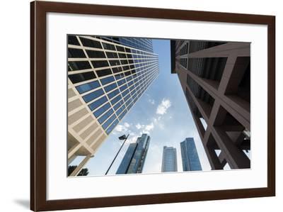 Frankfurt Am Main, Hesse, Germany, Skyscrapers in the Financial District of Frankfurt, Taunusturm-Bernd Wittelsbach-Framed Photographic Print