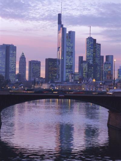 Frankfurt-Am-Main Skyline, Hessen, Germany, Europe-Charles Bowman-Photographic Print