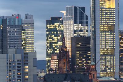 Frankfurt Financial District at Dusk-Bernd Wittelsbach-Photographic Print