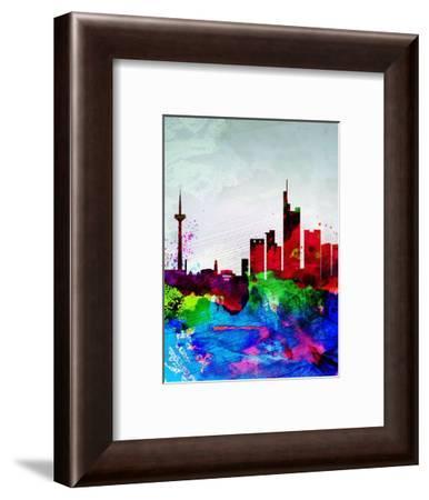 Frankfurt Watercolor Skyline-NaxArt-Framed Art Print