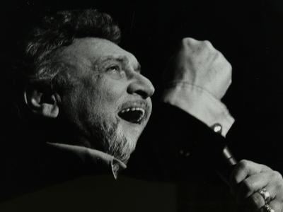 Frankie Laine on Stage at the Forum Theatre, Hatfield, Hertfordshire, 10 May 1982-Denis Williams-Photographic Print