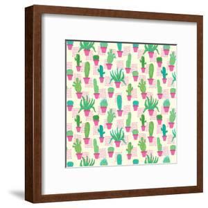 Cactus In Pink Pots by Frankie Van