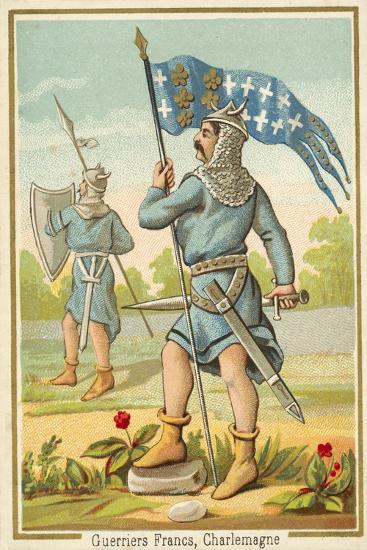 Frankish Warriors of the Time of Charlemagne--Giclee Print