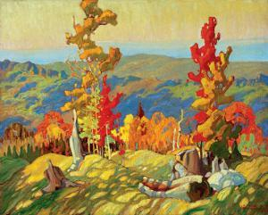 Autumn in the Northland by Franklin Carmichael