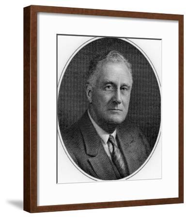 Franklin Delano Roosevelt, 32nd President of the United States--Framed Giclee Print