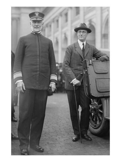 Franklin Delano Roosevelt As Secretary of the Navy--Art Print