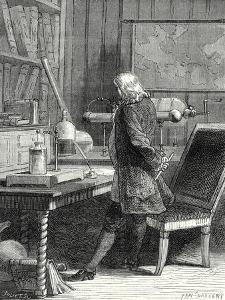 Franklin in His Laboratory of Physics in Philadelphia
