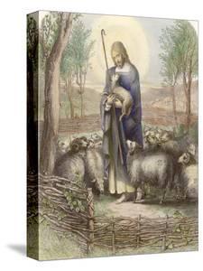 Jesus Depicted as the Good Shepherd by Franklin